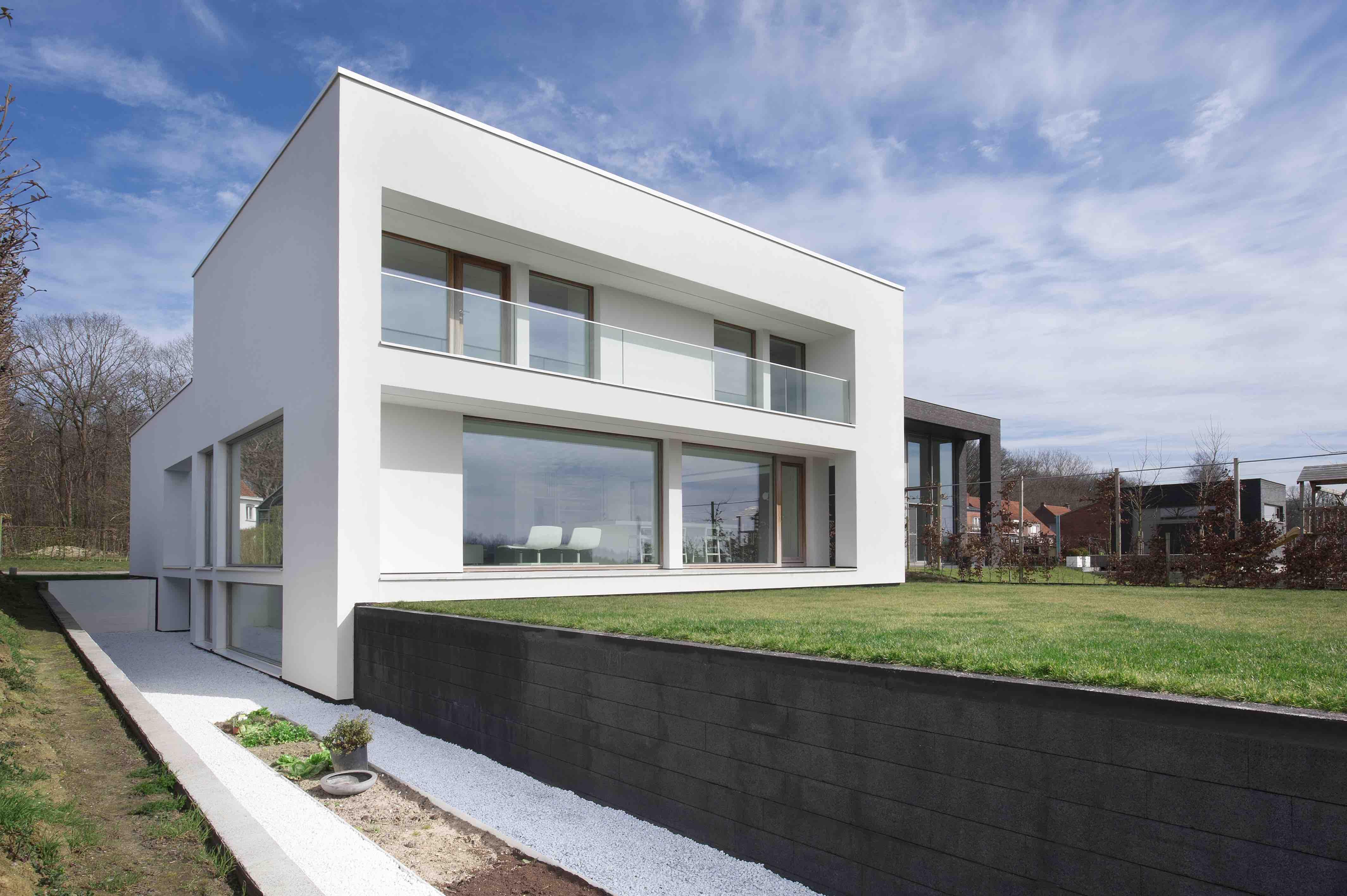 Villaproject in de Westhoek met glazen balustrade