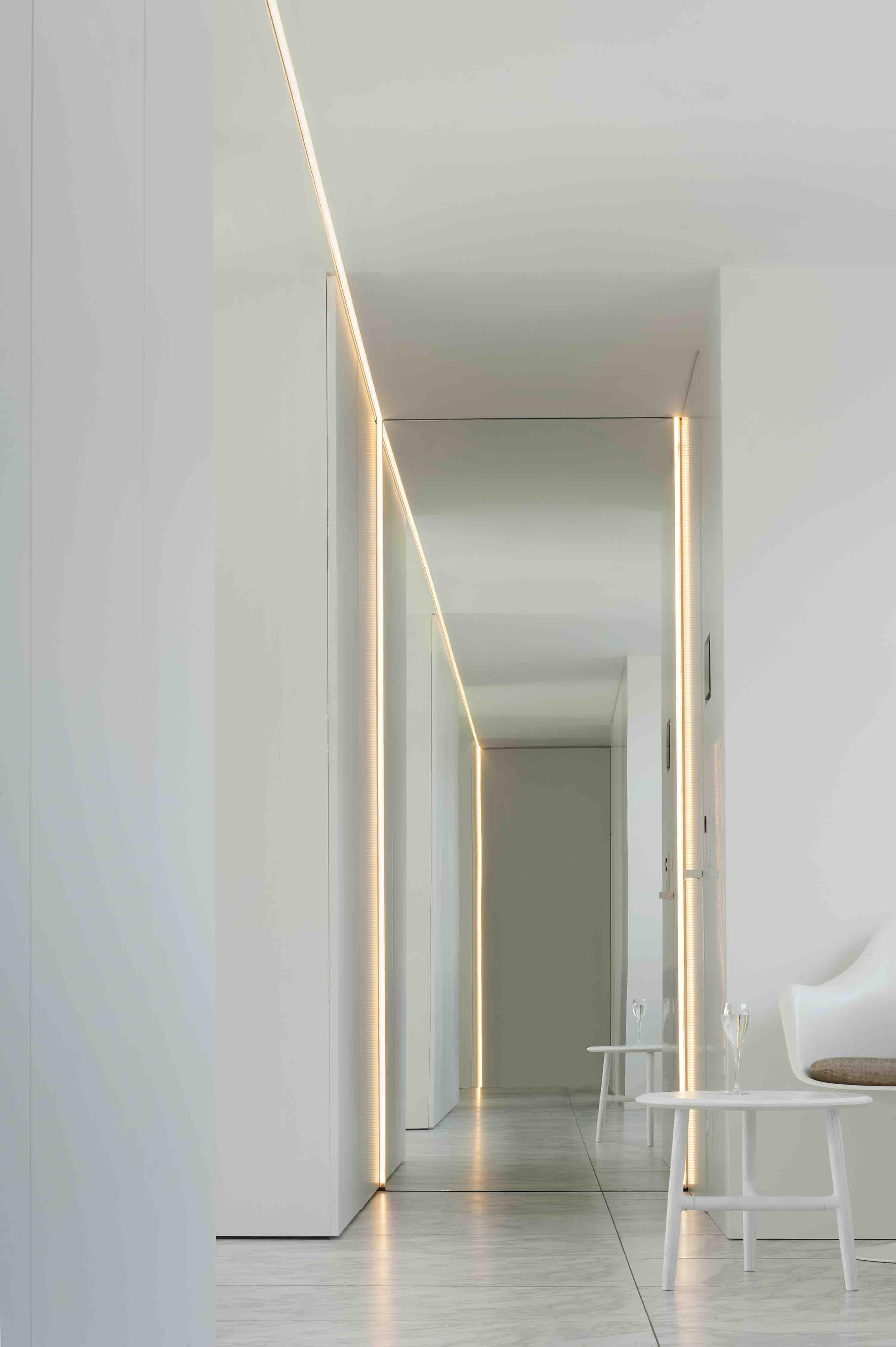 Villaproject in de Westhoek met plafondhoge spiegel