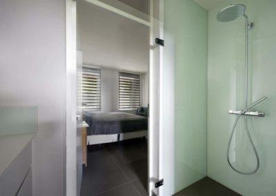 Groen in de badkamer en douche