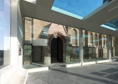 Topglass glazen dak vanceva gekleurd glas kerk gelaagd veiligheid_0