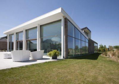 Topglass nieuwbouw hoogrendementsglas houten ramen zonlicht