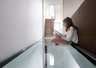Topglass vloerbeglazing glastegel helder glas zacht