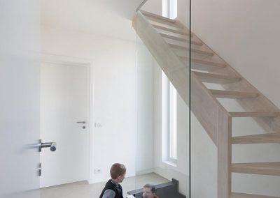 Glazen wand als alternatief voor balustrade